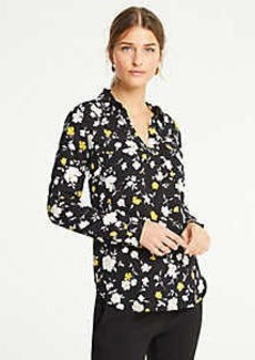 Ann Taylor Floral Slim Camp Shirt