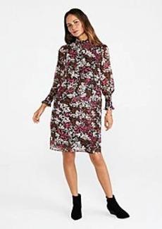 Ann Taylor Floral Smocked Neck Shift Dress