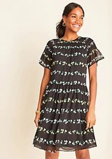Ann Taylor Floral Smocked Shift Dress