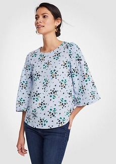 Floral Smocked Shoulder Tee