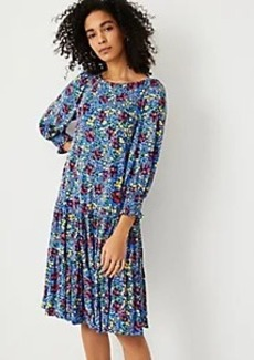 Ann Taylor Floral Tiered Shift Dress