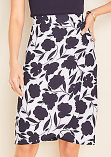 Ann Taylor Floral Wrap Pencil Skirt
