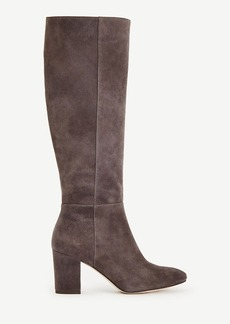 Ann Taylor Florence Suede Heeled Boots
