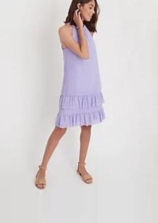 Ann Taylor Flounce Halter Dress