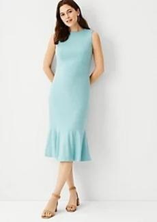Ann Taylor Flounce Sheath Dress