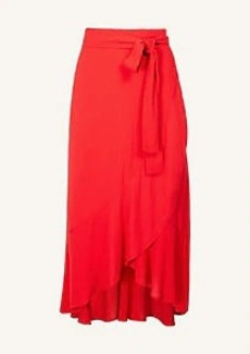 Ann Taylor Flounce Wrap Maxi Skirt