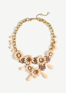 Ann Taylor Flower Charm Statement Necklace