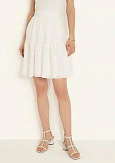 Ann Taylor Flower Clip Full Skirt