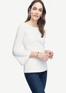 Fluted Boatneck Top