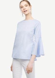 Fluted Sleeve Poplin Shirt