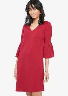 Fluted Sleeve Shift Dress