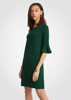 Fluted Sleeve Sweater Dress