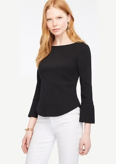 Fluted Sleeve Top