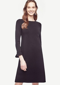 Fluted Sweater Dress