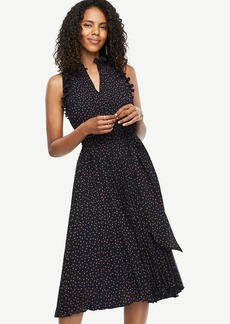 Flutter Print Pleated Dress