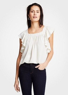 Ann Taylor Flutter Square Neck Top