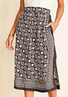 Ann Taylor Foulard Smocked Waist Pocket Skirt