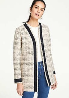 Ann Taylor Framed Fringe Tweed Jacket