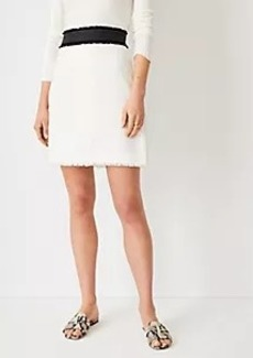 Ann Taylor Framed Tweed A-Line Skirt