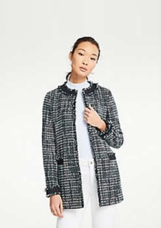 Ann Taylor Framed Tweed Jacket