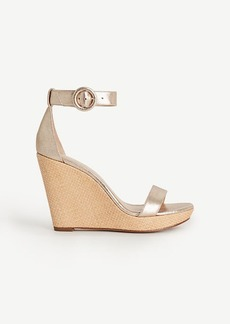 Francesca Metallic Leather Wedges