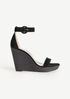 Francesca Suede Wedges