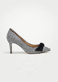 Ann Taylor Frannie Flannel Bow Pumps