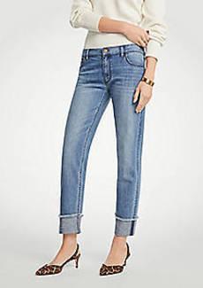 Ann Taylor Frayed Cuff Girlfriend Jeans