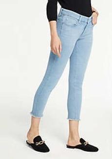 Ann Taylor Frayed Hem Skinny Crop Jeans