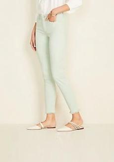 Ann Taylor Frayed Sculpting Pocket Skinny Crop Jeans In Icy Sage