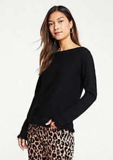 Ann Taylor Fringe Boatneck Sweater