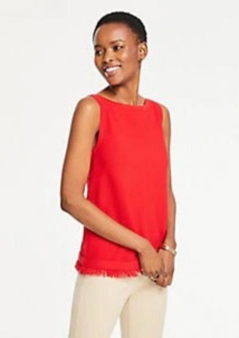 Ann Taylor Fringe Sleeveless Sweater