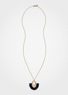 Ann Taylor Fringe Statement Pendant Necklace