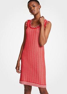 Ann Taylor Fringe Sweater Shift Dress