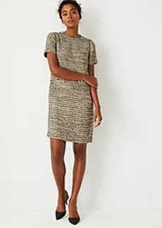Ann Taylor Fringe Tweed Shift Dress