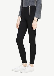 Ann Taylor Front Zip Leggings