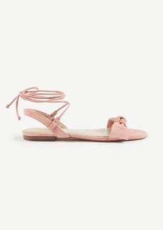 Galen Lace Up Bow Flat Sandals