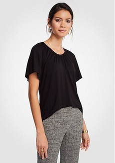 Ann Taylor Gathered Angel Sleeve Top