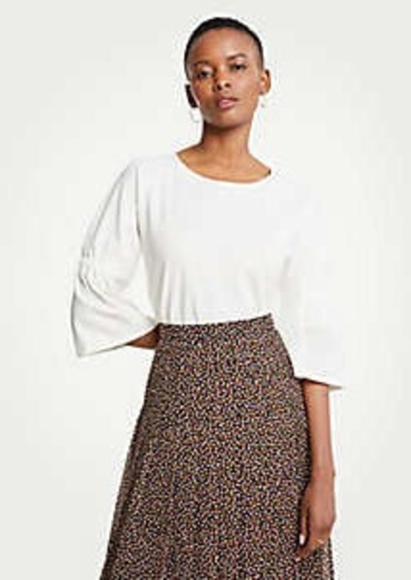 Ann Taylor Gathered Sleeve Top
