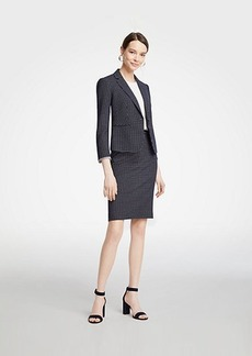 Ann Taylor Geo Check Pencil Skirt