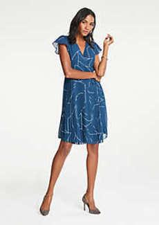 Ann Taylor Geo Chiffon Wrap Dress