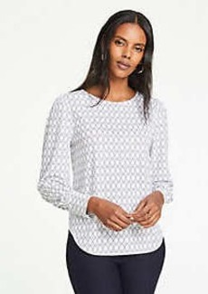 Ann Taylor Geo Cuffed Top