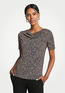 Ann Taylor Geo Dot Cowl Neck Top