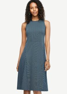 Ann Taylor Geo Drapey Midi Flare Dress