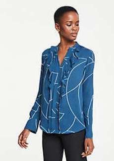 Ann Taylor Geo Icon Blouse