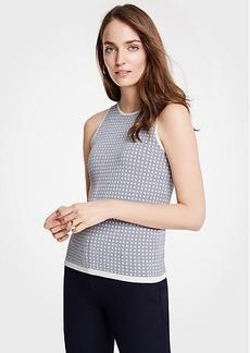 Ann Taylor Geo Jacquard Sweater Shell
