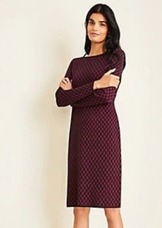 Ann Taylor Geo Jacquard Sweater Shift Dress