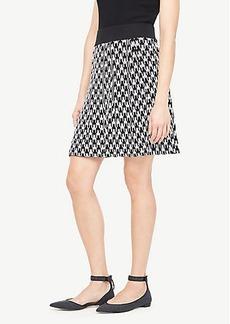 Ann Taylor Geo Jacquard Sweater Skirt