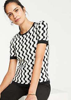 Ann Taylor Geo Jacquard Sweater Tee