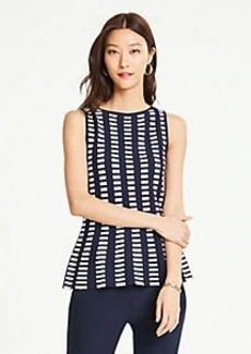 Ann Taylor Geo Peplum Sweater Shell